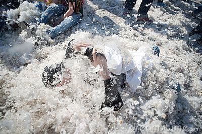 International Pillow Fight, Frankfurt. Editorial Stock Image