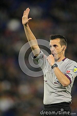 International referee Javier Estrada Fernandez Editorial Image