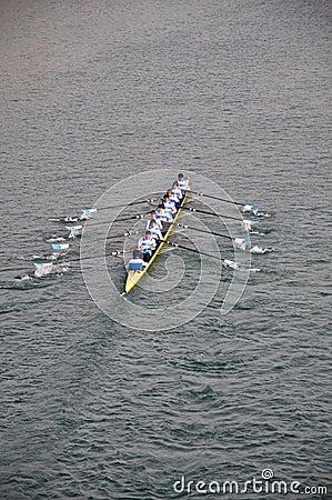 International Rowing Regatta in Turin Editorial Stock Photo