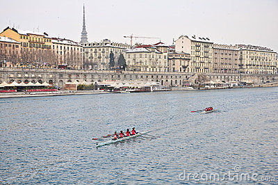 International Rowing Regatta in Turin Editorial Photo
