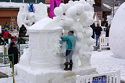 International Snow Sculpture Competition Editorial Photo