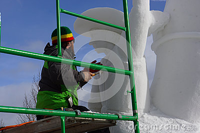 International Snow Sculpture Competition Editorial Image