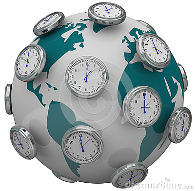International Time Zones Clocks Around World Global Travel
