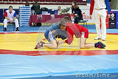 The international tournament on sambo Editorial Image