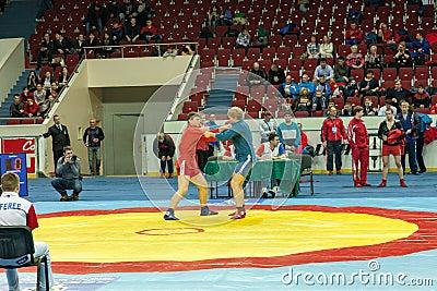 The international tournament on sambo Editorial Stock Photo