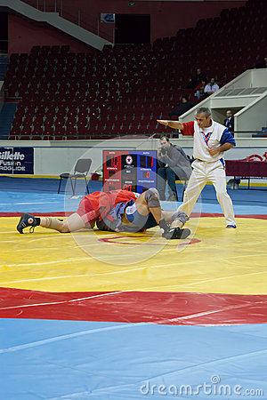 The international tournament on sambo Editorial Stock Image