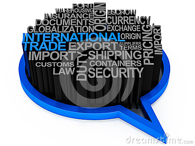 International trade words