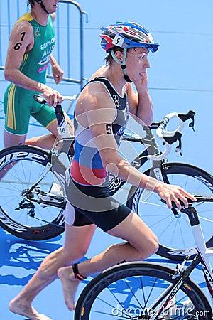 International Triathlon 2012, Geneva, Switzerland Editorial Stock Photo