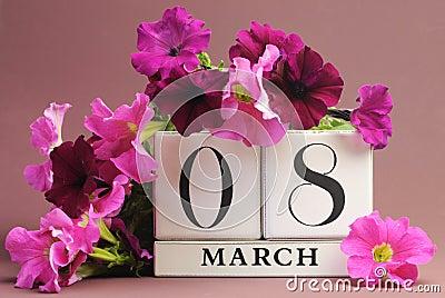 International Women s Day, March 8, calendar