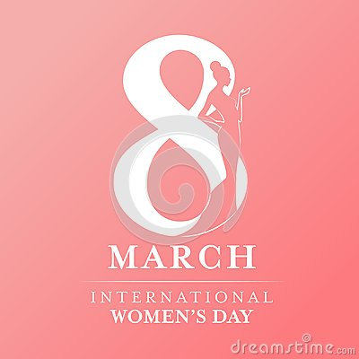 Free International Women`s Day With Women Lady And 8 Th Day Sign  Royalty Free Stock Photos - 105747038