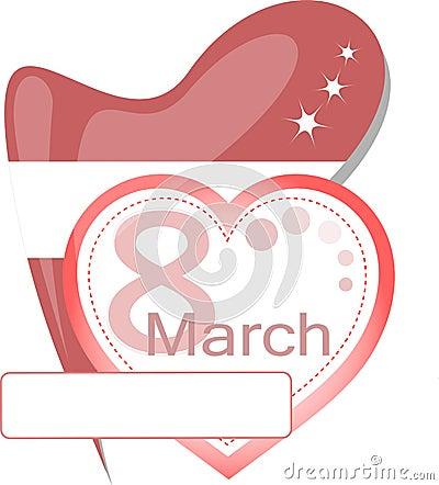 International womens day on 8th march. calendar