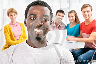 Internationale groep studenten