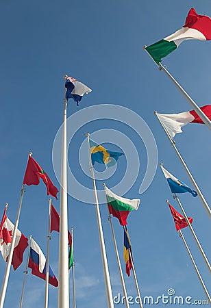 Internationale Markierungsfahnen