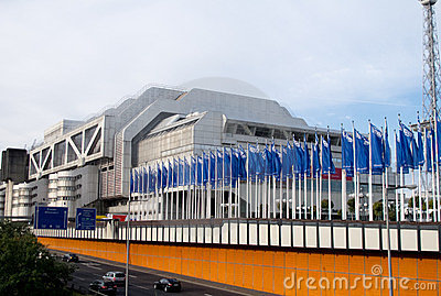 The Internationales Congress Centrum in Berlin Editorial Photography