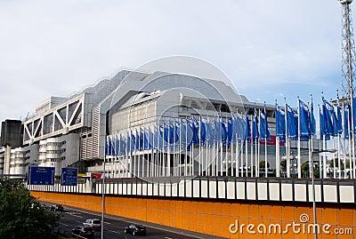 The Internationales Congress Centrum in Berlin Editorial Photography