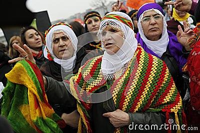 Internationella s kvinnor för dag Redaktionell Arkivfoto