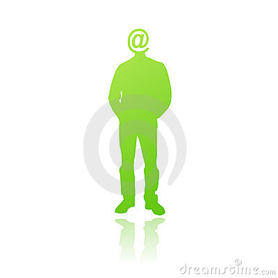 Internet addicted person vector