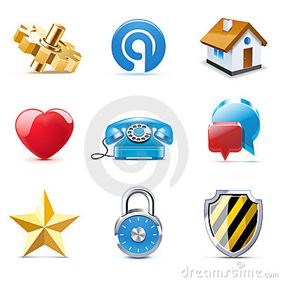Free Internet And Web Icons | Bella Series Royalty Free Stock Photo - 19583165