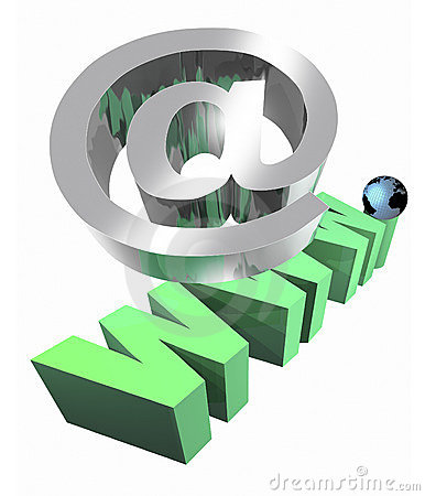 Internet bij en www teken