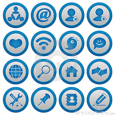 Internet and blog icons set