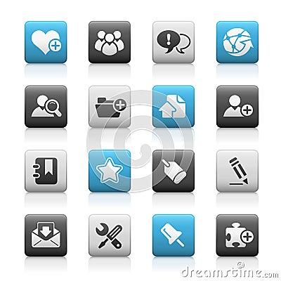 Internet & Blog // Matte Icons Series