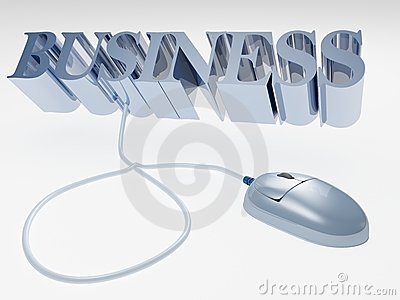 Internet business concept with computer mouse