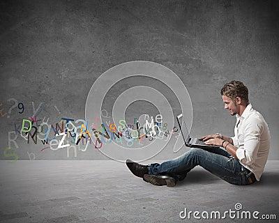 Internet chat concept
