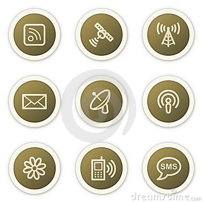 Internet communication web icons
