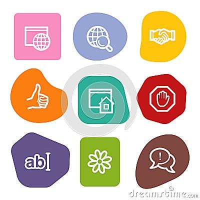 Internet communication web icons, colour spots