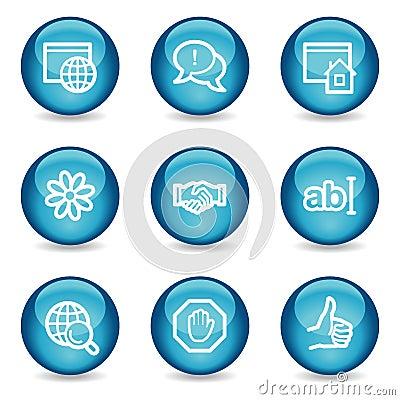 Internet communication web icons, glossy sphere