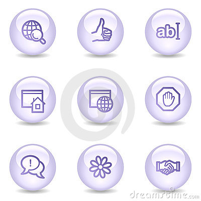 Internet communication web icons, pearl series