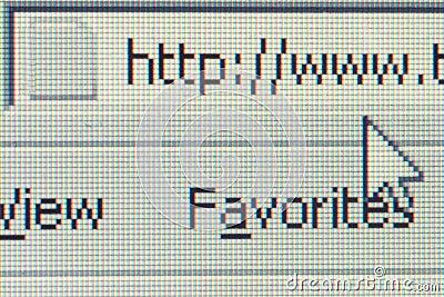 Internet, computer screen closeup