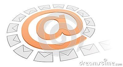 Internet concept: email symbol