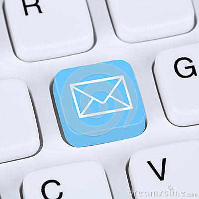 Free Internet Concept Sending E-Mail Or Email On Computer Keyboard Stock Image - 53303171
