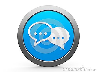 Icon internet conversation Stock Photo