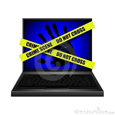 Internet Crime Scene Handprint