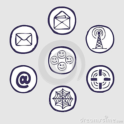 Internet devices icon set