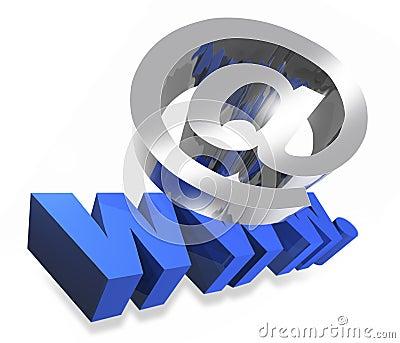 Internet à et signe de WWW