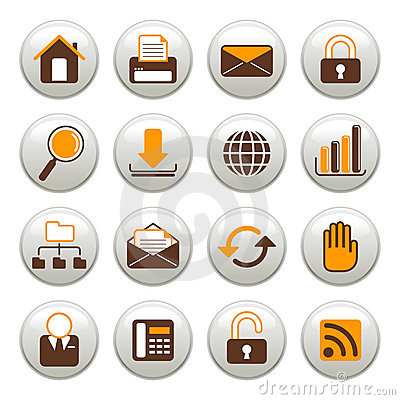 Free Internet Icons Royalty Free Stock Images - 3286539
