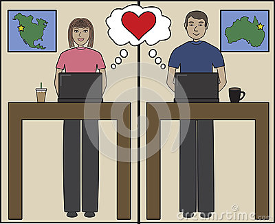 Internet love cartoon