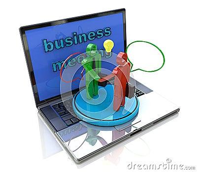 Internet meeting of businessmen