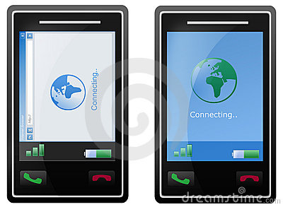 Internet mobile phone screen