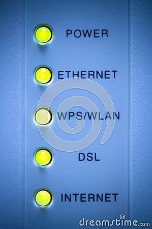 Internet modem light
