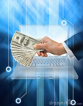Free Internet Money Business Computer Stock Images - 18386594