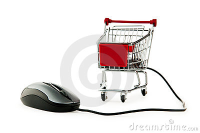 Internet online shopping concept with computer