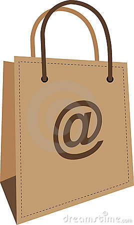 Internet Purchase Bag Royalty Free Stock Image - Image: 20428956