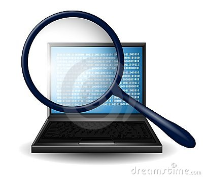 Internet Research Magnifying Glass