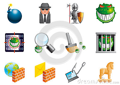 Internet security icons