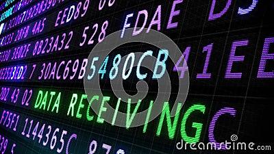 Internet security screen loop Stock Photo