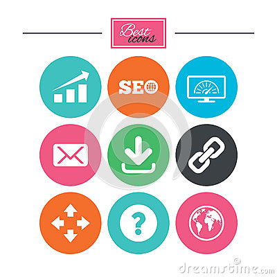 Free Internet, Seo Icons. Bandwidth Speed Sign. Royalty Free Stock Images - 82851509